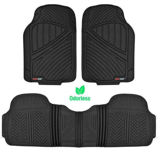 Black All Weather Motor Trend Flextough Heavy Duty Floor Mats