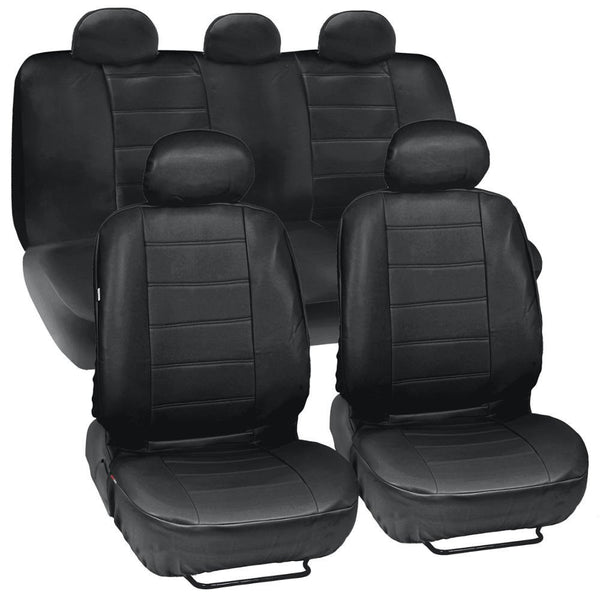 BDK Synthetic Leather Car Seat Covers Complete Set