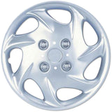 "BDK Nissan Altima Style Hubcap OEM Replica - 15"", Silver, 4 Pieces"