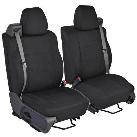 PolyCustom Seat Covers for Ford F-150 Regular & Extended Cab 04-08 - Integrated Seat Belt - EasyWrap Cloth (3 Color)