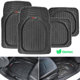 "Motor Trend ""Deep Dish"" Flex Tough Contour Liners Car Floor Mats 4 Piece - Heavy Duty 100% Odorless (3 Color)"