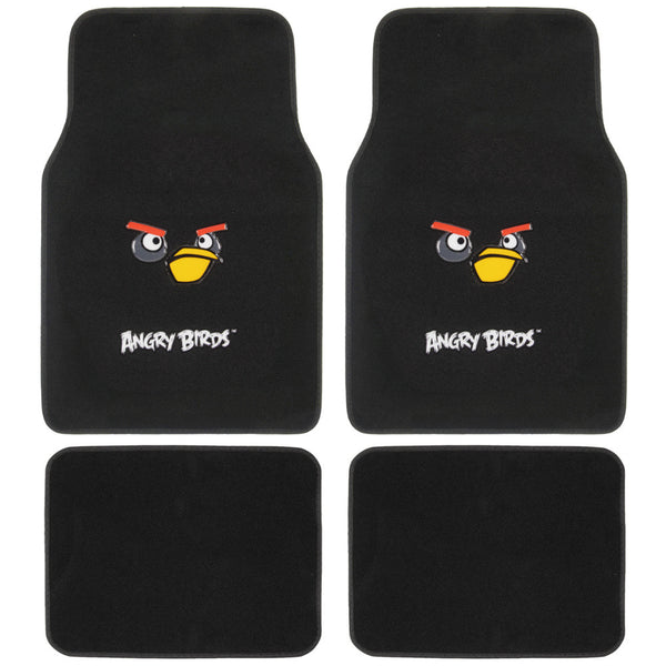 Angry Bird Front And Rear Carpet Floor Mats Automotive