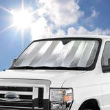 "Double Bubble Sunshade for Front Windshield - Jumbo Size - 67"" x 28"""