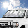 Double Bubble Sunshade for Front Windshield - Jumbo Size - 67