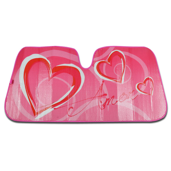Hearts Sunshade - Front Windshield Sun Protector