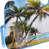 "Palm Beach Island Auto Sun Shade - Front Windshield Sun Protector - 58"" x 28"""