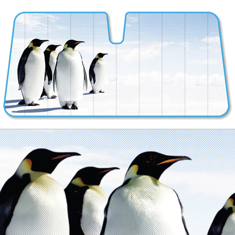Cool Penguins Auto Sun Shade - Front Windshield Sun Protector - 58