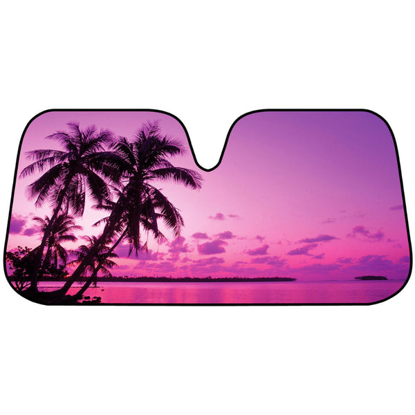 Pink Sunset Sunshade - Front Windshield Sun Protector