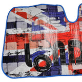 London Auto Sun Shade for Car SUV Truck - Union Jack - Double Bubble Foil Jumbo Folding Accordion for Windshield