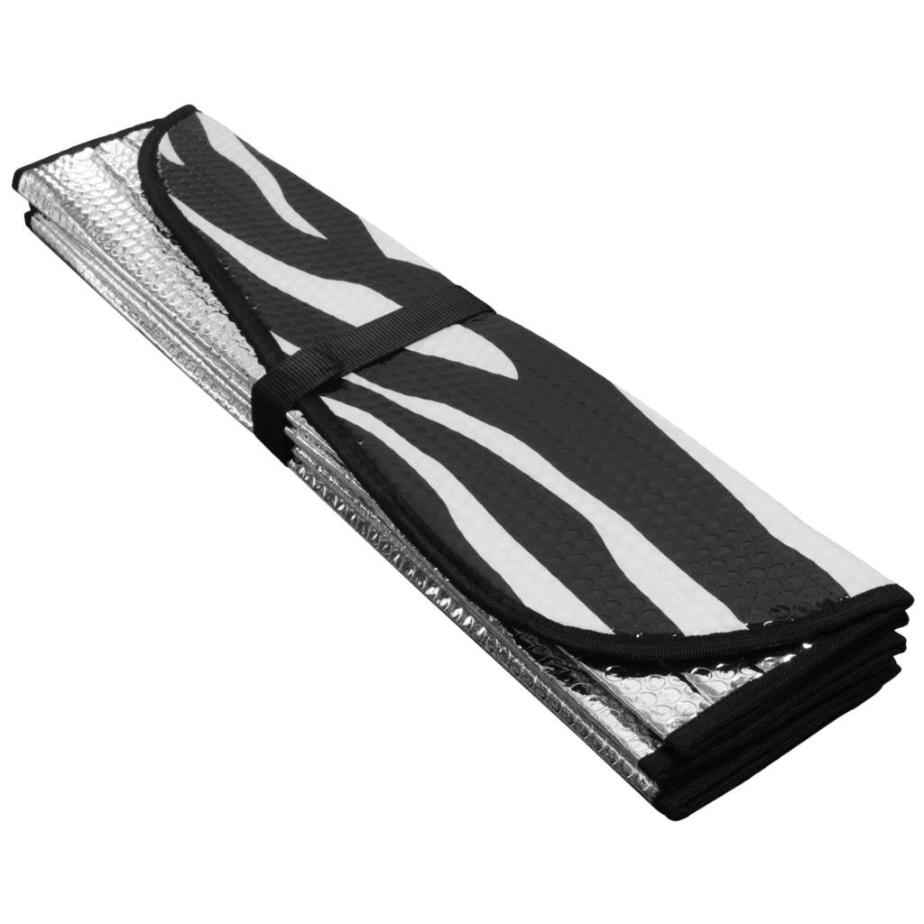 White Zebra 58 X 28 Front Windshield Sun Protector Sunshade
