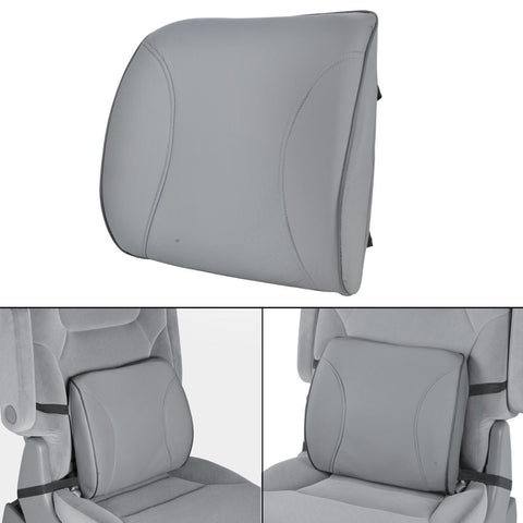 Cushioned Back Support Lumbar - Orthopedic Massage (Gray)