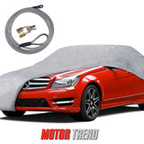 "Motor Trend ""Auto Armor"" Outdoor Car Cover All Weather Protection Waterproof 3 Layers - Lock Included (5 Size)"