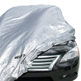 "Motor Trend ""WeatherWear"" Poly-1 Car Cover - Snow Rain Weather & Water Proof - Lock Included (5 Size)"