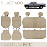 BDK Custom Fit Seat Covers for Chevy Silverado Extended Cab - OEM Micro Fit (2 Color)