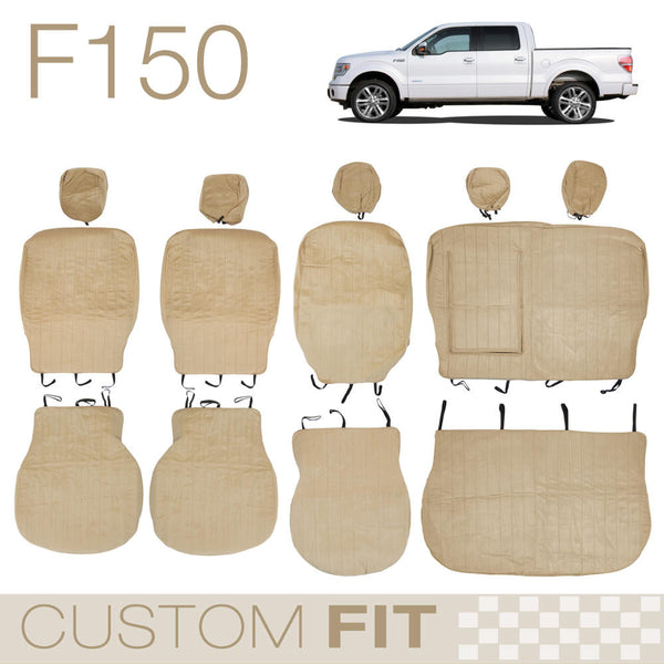 BDK Custom Fit Seat Covers for Ford F-150 - OEM Micro Fit (3 Color)