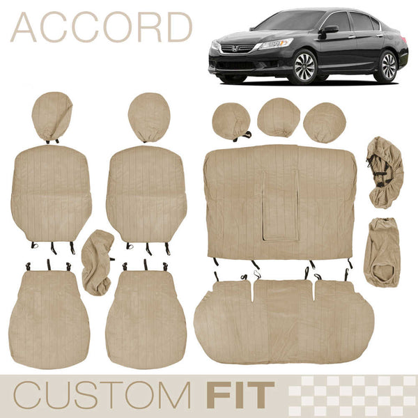 BDK Custom Fit Seat Covers for Honda Accord - OEM Micro Fit (3 Color)