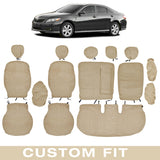 Front and Rear Exact Custom Fit Encore/Velour Beige Seat Cover for Toyota Camry 2007-12