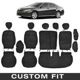 Front and Rear Exact Custom Fit Encore/Velour Black Seat Cover for Toyota Camry 2007-12