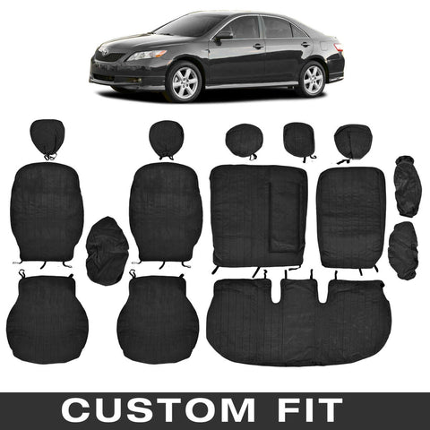 BDK Custom Fit Seat Covers for Toyota Camry - OEM Micro Fit (2 Color)