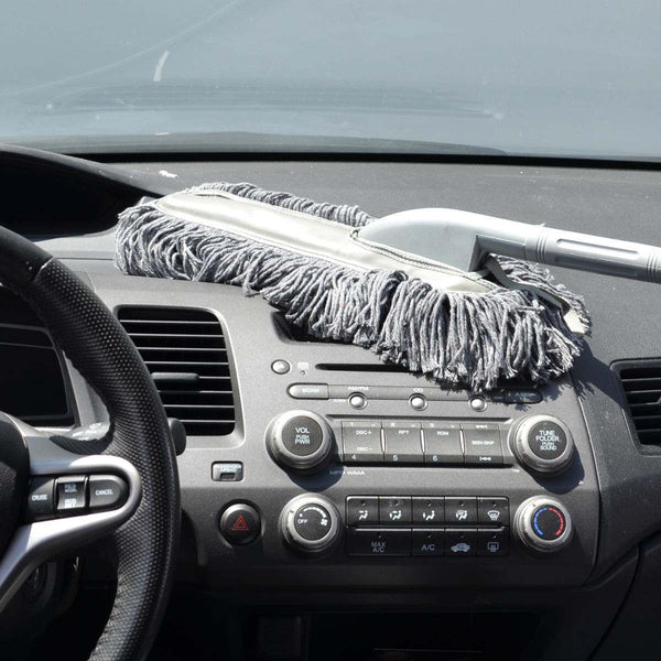 wax coated car duster lifts and removes dust without scratching. Black Bedroom Furniture Sets. Home Design Ideas