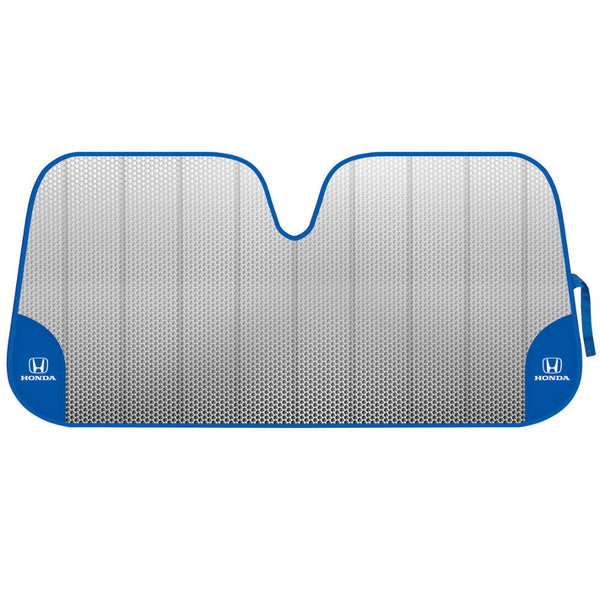 Honda Front Windshield Sunshade - White Logo on Blue Accordion Folding Auto Shade for Car Truck SUV