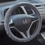 Gray Honda Steering Wheel Cover - Comfort Cushion Grip PU Leather Odorless (2 Sizes)