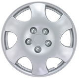 "BDK Toyota Corolla Style Hubcaps OEM Replica v2 - 15"" Silver 4 Pieces"
