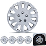 "BDK USA 4 Piece KT 842 15"" Silver Replacement Hubcaps"