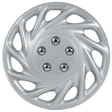 "BDK USA 4 Piece KT 858 16"" Silver Replacement Hubcaps"