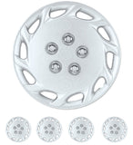 BDK Toyota Corolla Style Hubcaps OEM Replica Silver Finish Full Set 4pcs 14""