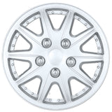 "BDK Nissan Altima Style Replica Hubcaps OEM v2 - 14"" Silver Finish All 4 Pieces"