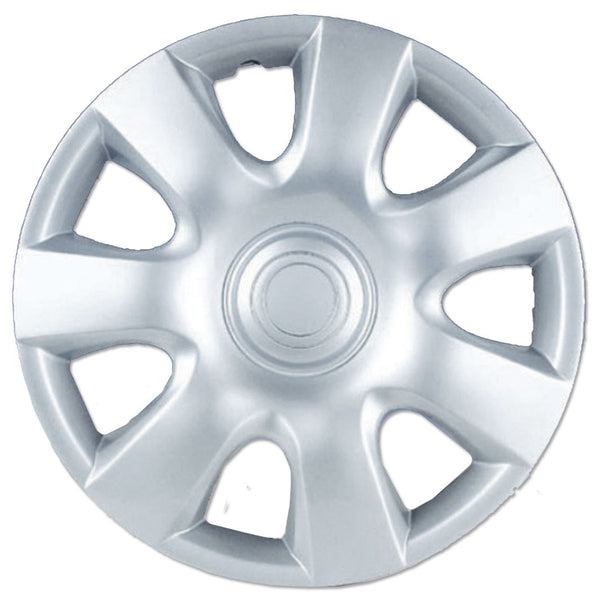 BDK Toyota Camry Style Hubcaps OEM Replica Wheel Covers v2 - Silver Finish - 4 Pieces