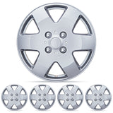 Premium ABS Quality Hubcaps - Silver, 4 Pieces KT-978 (2 Sizes)