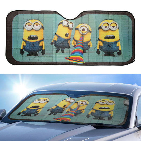 Minions Despicable Me 58 X 24 Front Windshield Sunshade