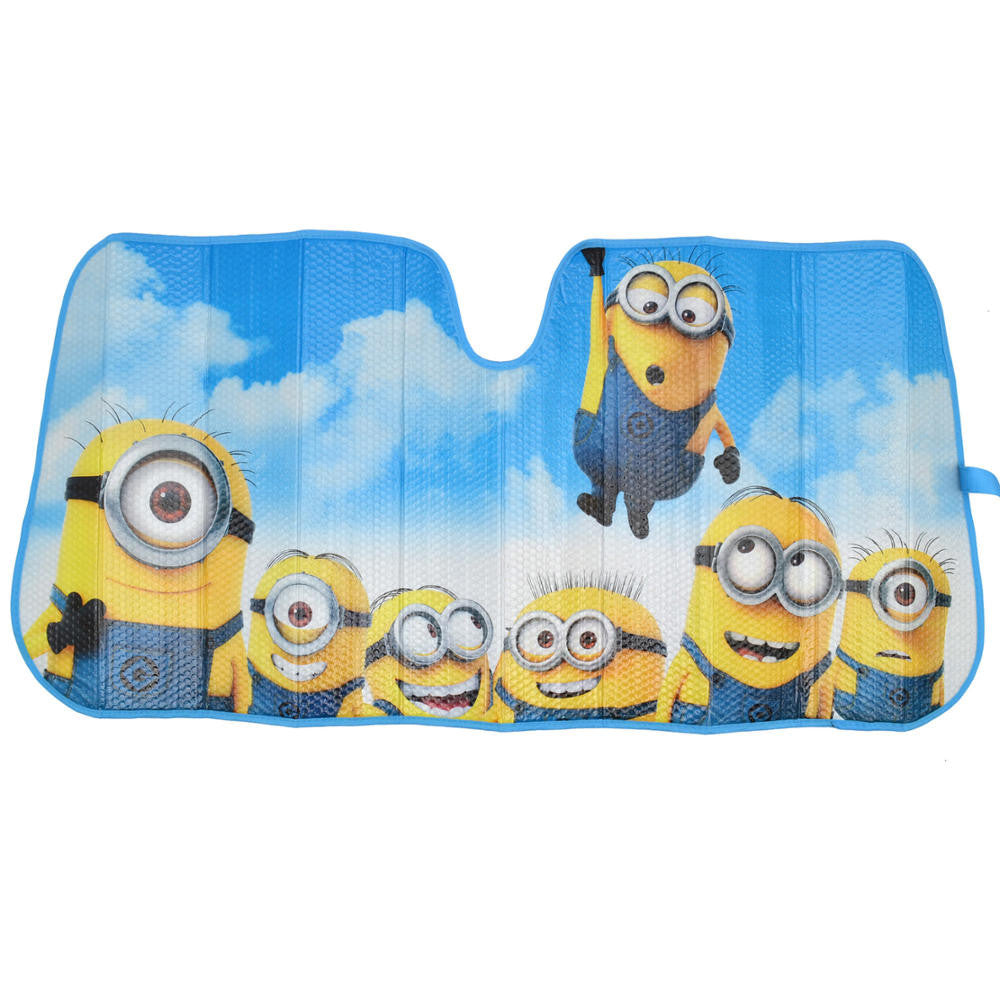 Minions 58 X 28 Front Windshield Sun Protector Sunshade