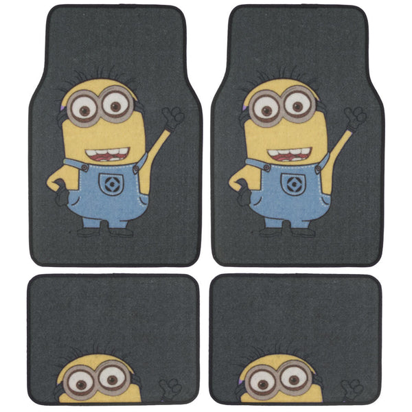 Despicable Me Minions Car Floor Mats - 4 Piece Auto Floor Mats, Universal Fit