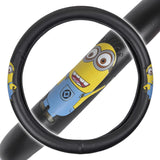 Minions Steering Wheel Cover Synthetic Leather - Jerry Waving