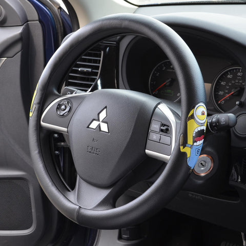 Minions Steering Wheel Cover - Screamin' Stuart - Premium Leatherette Grip