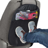 BDK TravelKid Seat Guard - Back Seat Protector Kick Mats with Organizer Pocket 2pc Set