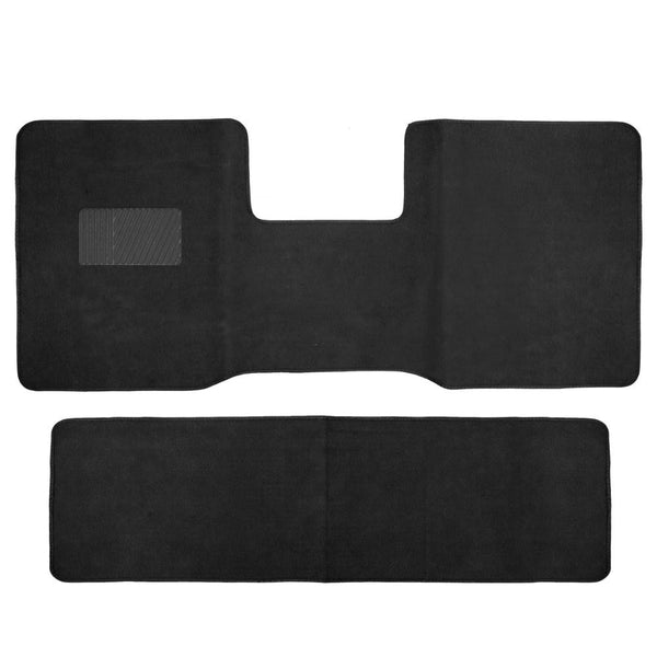 BDK Front and Rear Carpet Floor Mats for Truck, SUV and Van 2 Piece (3 Color)