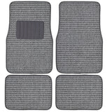 "BDK ""Woven Berber"" Lux Carpet Floor Mats for Car 4 Piece (3 Color)"