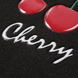 Cool Cherry Floor Mats - 4pc Universal Fit - Designer Interior Accessories