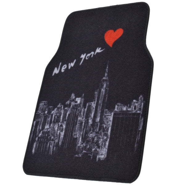 New York Skyline Universal Designer Carpet Floor Mats