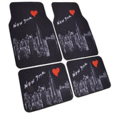 New York Skyline Floor Mats - 4pc Universal Fit - NY Design