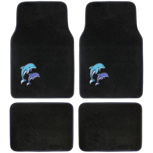 Blue Dolphin Design Car Floor Mats - 4 Piece