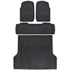BDK 4pc Full Set All Weather Heavy Duty Rubber SUV Floor Mats Trunk Liner (3 Color)