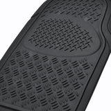 "BDK ""Diamond Ridge"" Series Car Floor Mats 4 Piece - Heavy Duty All Weather Trimmable Rubber (3 Color)"