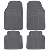 "Motor Trend ""Classic Style"" 100% Odorless Rubber Car Floor Mats 4 Piece - Heavy Duty Auto Accessories (3 Color)"