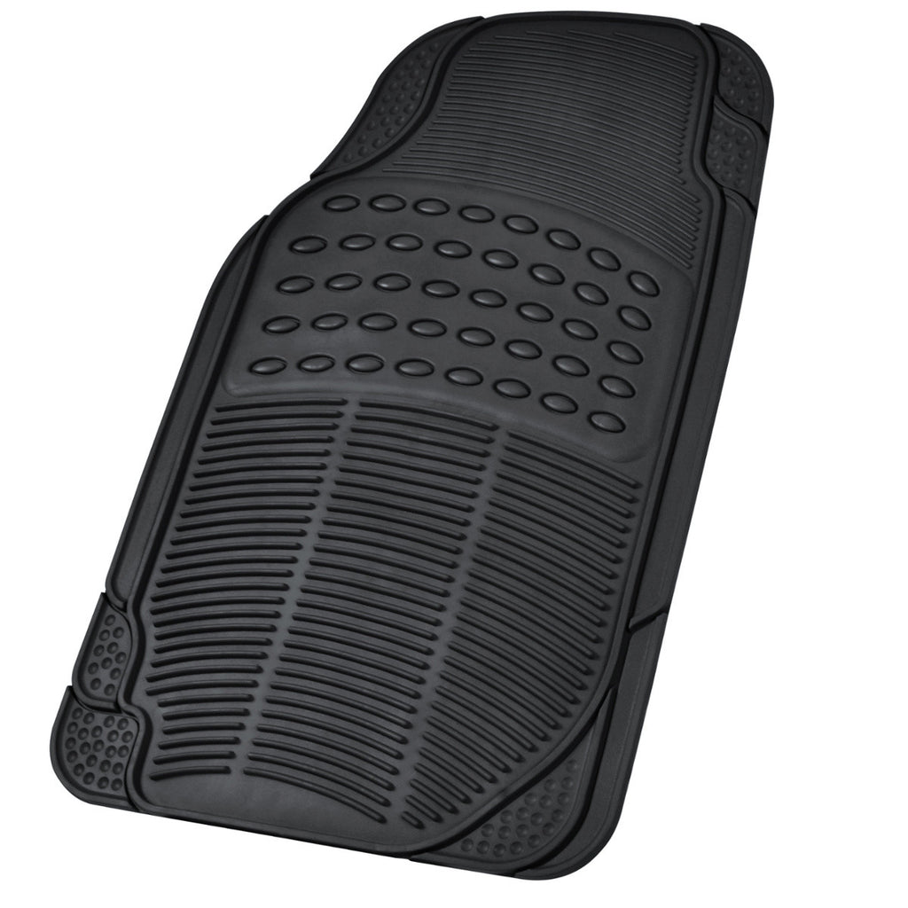Black Universal Heavy Duty Rubber Floor Mats
