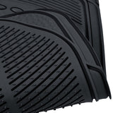 "BDK ""Classic Style"" Car Rubber Floor Mats 4 Piece 3 Rows - All Weather Protection (3 Color)"